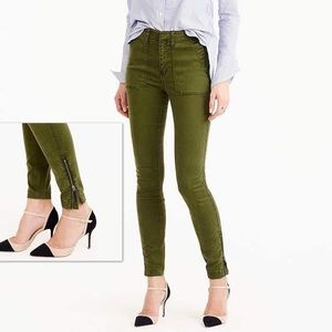 J. CREW Skinny Stretch Cargo Pant with Zippers 26